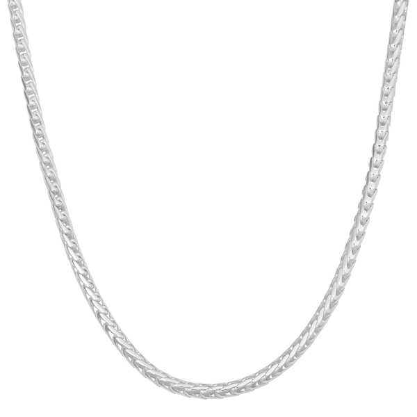 Fremada Sterling Silver High Polished Italian Franco Chain Necklace (2 mm)