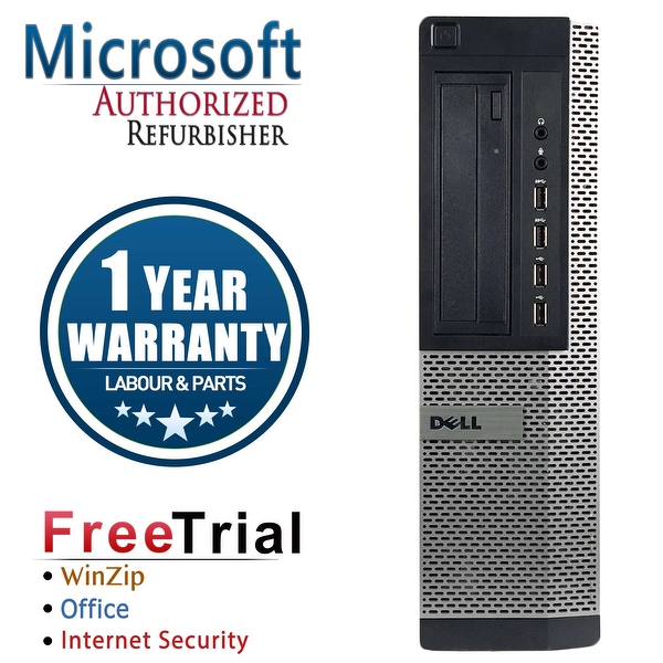 Refurbished Dell OptiPlex 7010 Tower Intel Core I5 3450 3.1G 16G DDR3 1TB DVDRW Win 7 Pro 64 Bits 1 Year Warranty - Black