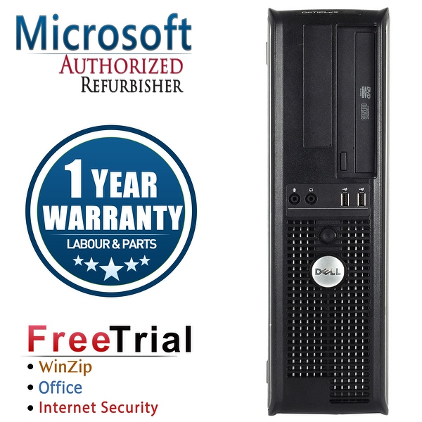 Refurbished Dell OptiPlex 780 Desktop Intel Core 2 Duo E8400 3.0G 8G DDR3 1TB DVD Win 7 Pro 64 Bits 1 Year Warranty - Silver