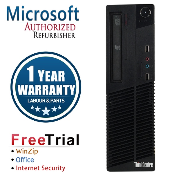 Refurbished Lenovo ThinkCentre M72E SFF Intel Core I5 3470 3.2G 16G DDR3 1TB DVD Win 10 Pro 1 Year Warranty - Black