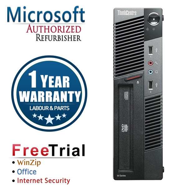 Refurbished Lenovo ThinkCentre M91P USFF Intel Core I5 2400S 2.5G 4G DDR3 320G DVD Win 10 Pro 1 Year Warranty - Black