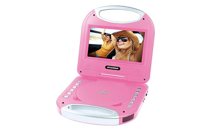 Sylvania SDVD7049-Pink Personal DVD Player with Handle ( Certified Refurbished )