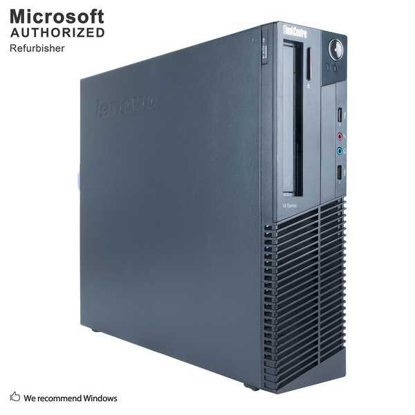 Certified Refurbished Lenovo M82P SFF, i3-3220 3.3G, 12G DDR3, 120G SSD + 3T, 1GB VC, DVD, WIFI, BT 4.0, HDMI, W10H64 (EN/ES)